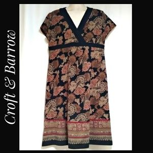 Croft and Barrow Stretch Knit Dress Paisley Sze XL